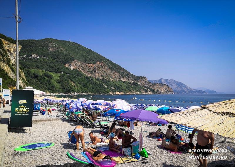 Пляж Яз в августе