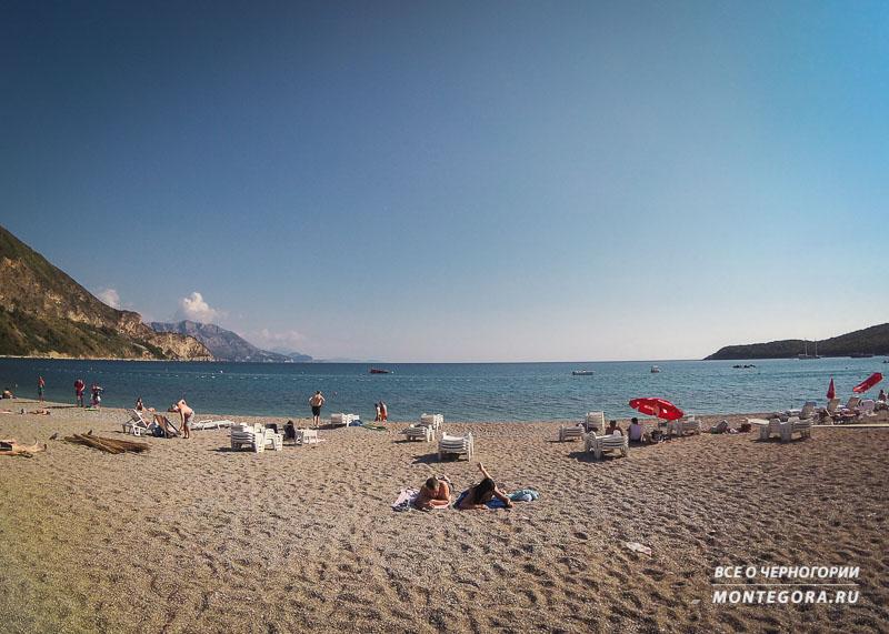 Пляж Яз в сентябре