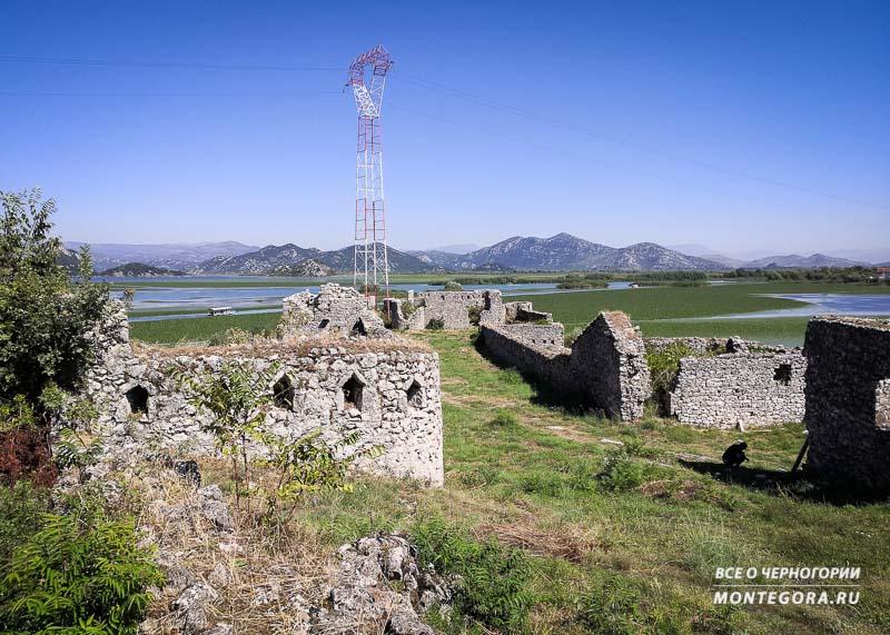 Крепость Лесендро на Скадарском озере в наше время