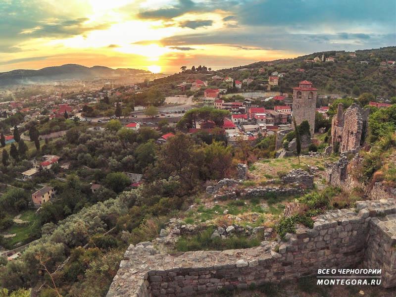 Закат в Старом Баре в сентябре