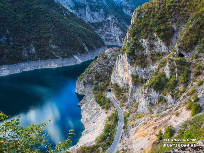 Черногорские пейзажи на естественную природу