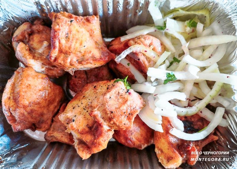 Жареное мясо в ресторане